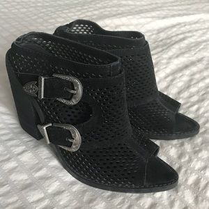 Slip on block heels